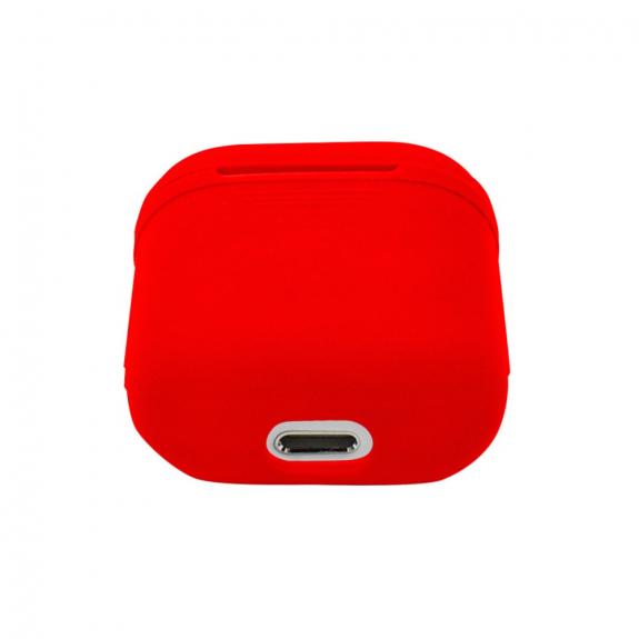Silikónový obal pre Apple Airpods - červený 3