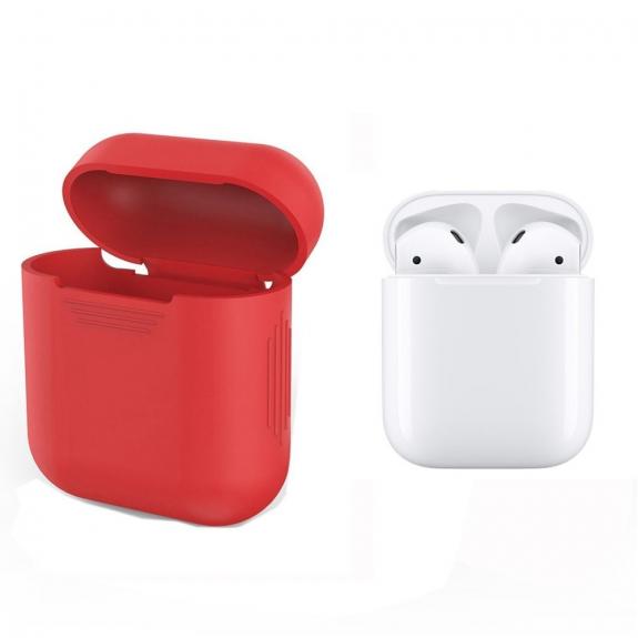 Silikónový obal pre Apple Airpods - červený 2