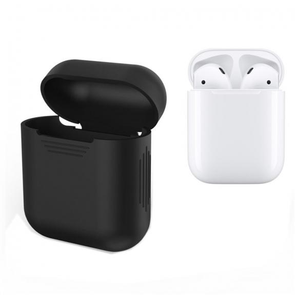 Silikónový obal pre Apple Airpods - čierny 2