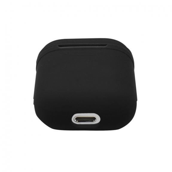 Silikónový obal pre Apple Airpods - čierny 3