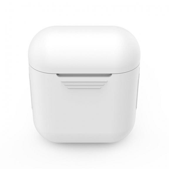 Silikónový obal pre Apple Airpods - biely 2