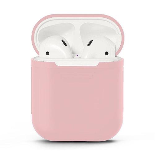 Silikónový obal pre Apple Airpods - ružový 1