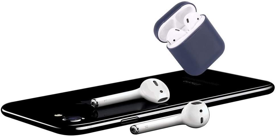 Silikónový obal pre Apple Airpods - tmavomodrý 4