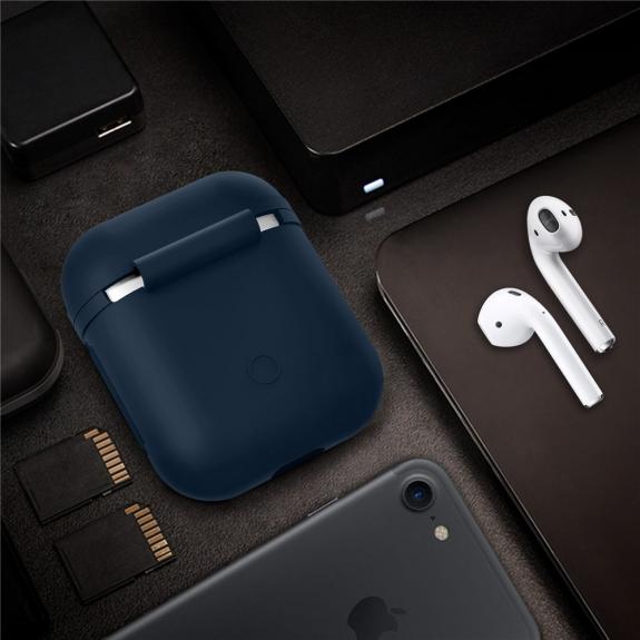 Silikónový obal pre Apple Airpods - tmavomodrý 3