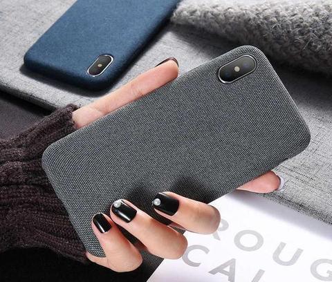 Látkový ochranný obal (tmavosivý) - iPhone XS 3