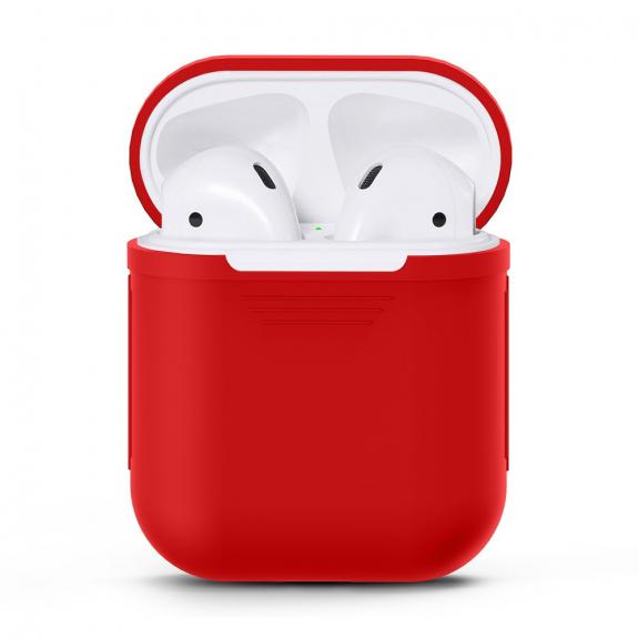 Silikónový obal pre Apple Airpods - červený 1