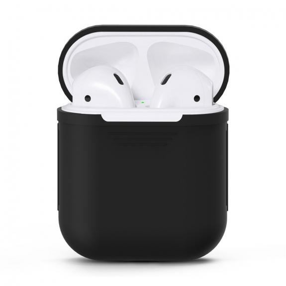 Silikónový obal pre Apple Airpods - čierny 1