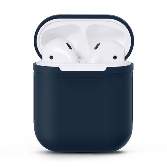 Silikónový obal pre Apple Airpods - tmavomodrý 1