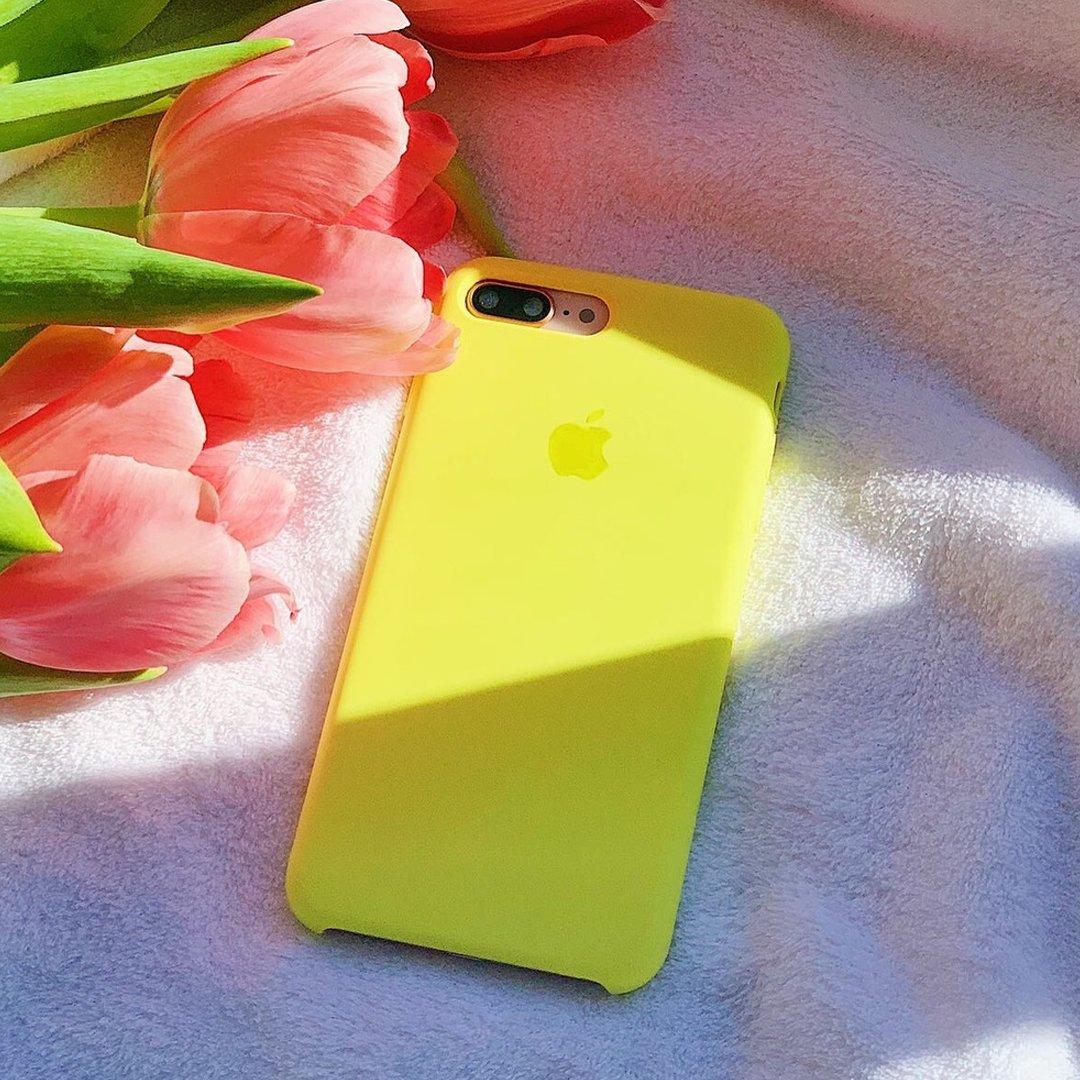 Apple silikónový obal pre iPhone 7 Plus / 8 Plus - žltý 4