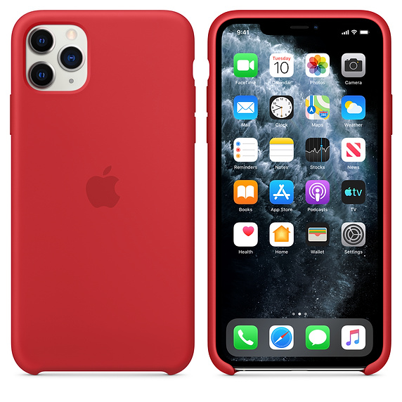 Apple silikónový obal pre iPhone 11 - červený 4