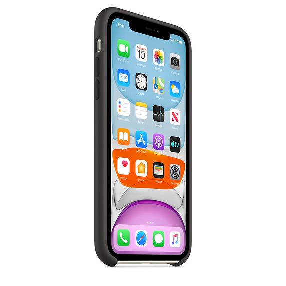 Apple silikónový obal pre iPhone 11 - čierny 2