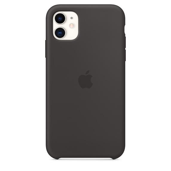 Apple silikónový obal pre iPhone 11 - čierny 1
