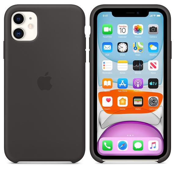 Apple silikónový obal pre iPhone 11 - čierny 4
