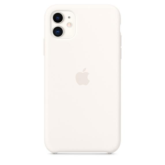 Apple silikónový obal pre iPhone 11 – biely 1