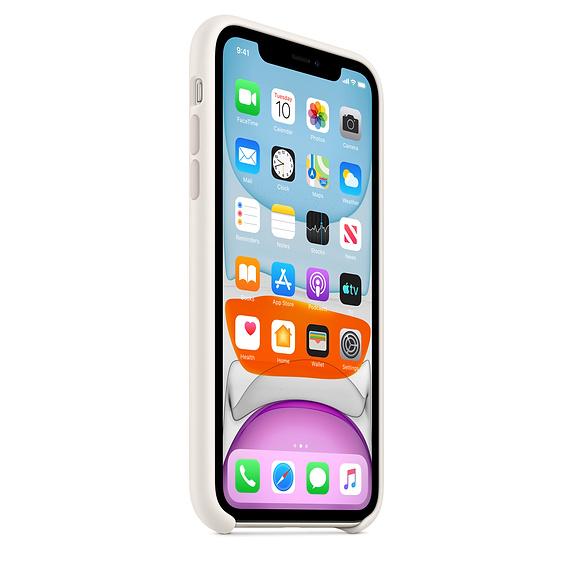 Apple silikónový obal pre iPhone 11 – biely 2