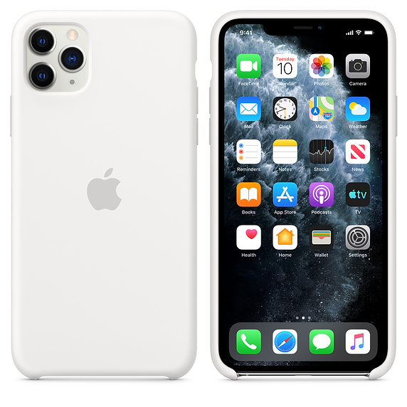 Apple silikónový obal pre iPhone 11 Pro Max – biely 4