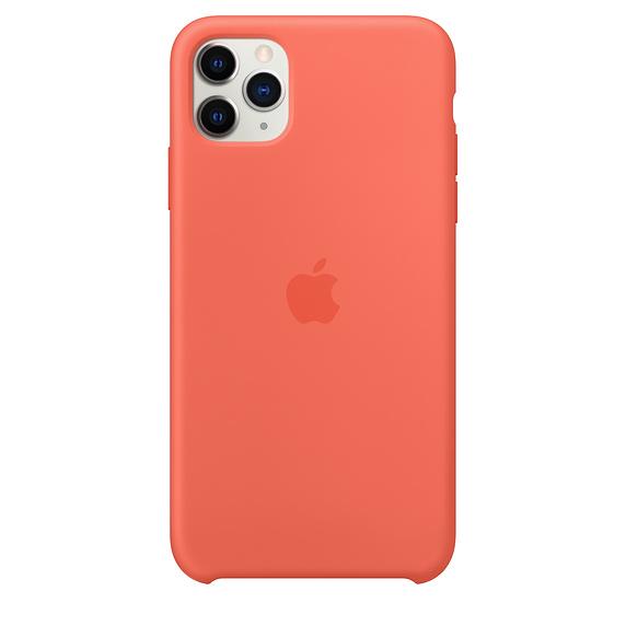 Apple silikónový obal pre iPhone 11 Pro – oranžový 1