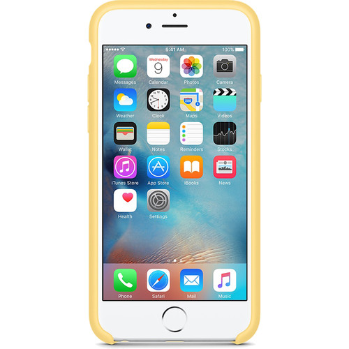 Apple silikónový obal pre iPhone 6 Plus / 6S Plus - žltý 2