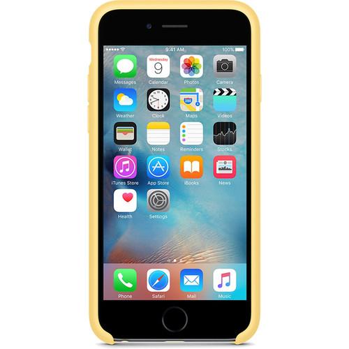 Apple silikónový obal pre iPhone 6 Plus / 6S Plus - žltý 3