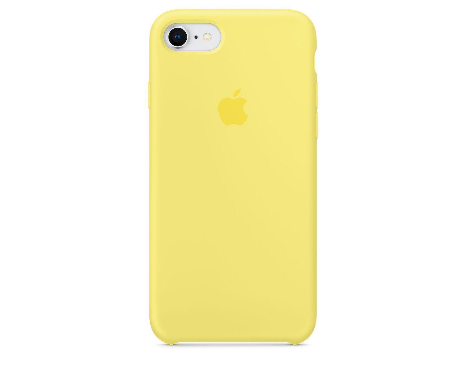 Apple silikónový obal pre iPhone SE 2020 - žltý 1