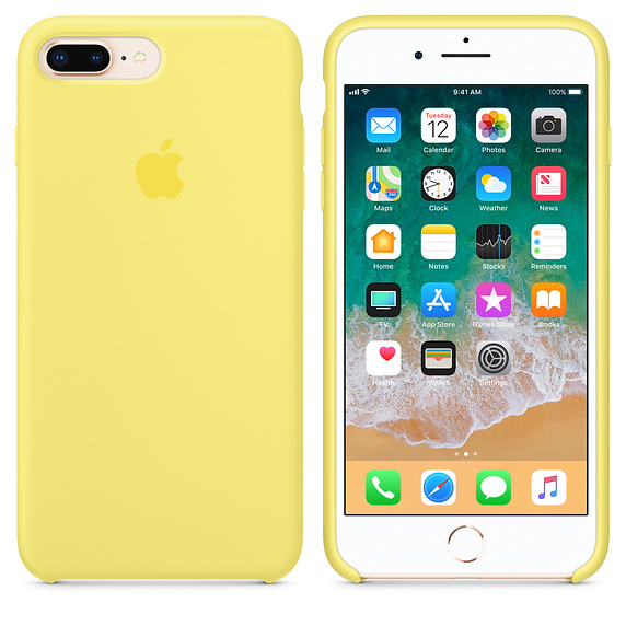 Apple silikónový obal pre iPhone 7 Plus / 8 Plus - žltý 3