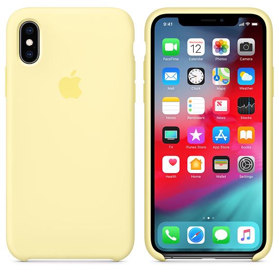 Apple silikónový obal pre iPhone XR - žltý 3