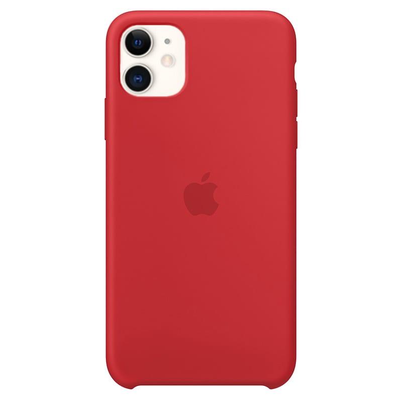 Apple silikónový obal pre iPhone 11 - červený 1