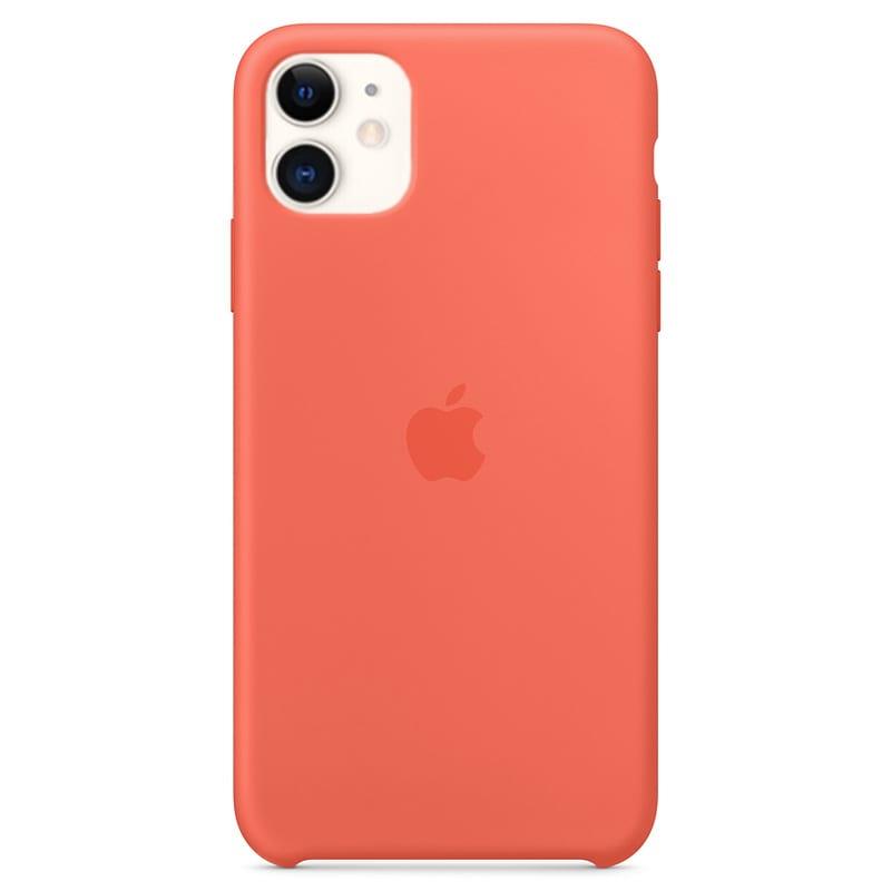 Apple silikónový obal pre iPhone 11 – oranžový 1
