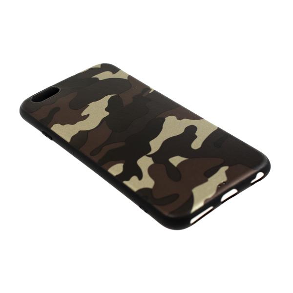 Ochranný Army obal pre iPhone 6 / 6S - hnedý 2
