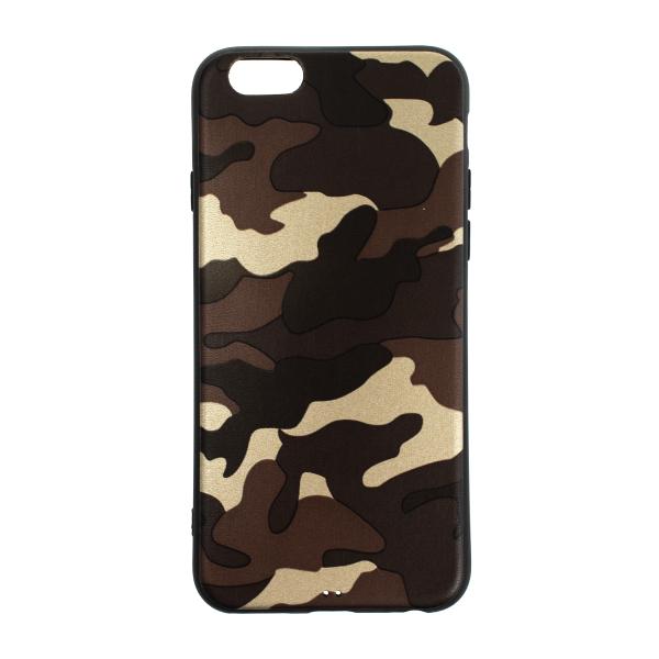Ochranný Army obal pre iPhone 6 / 6S - hnedý 1