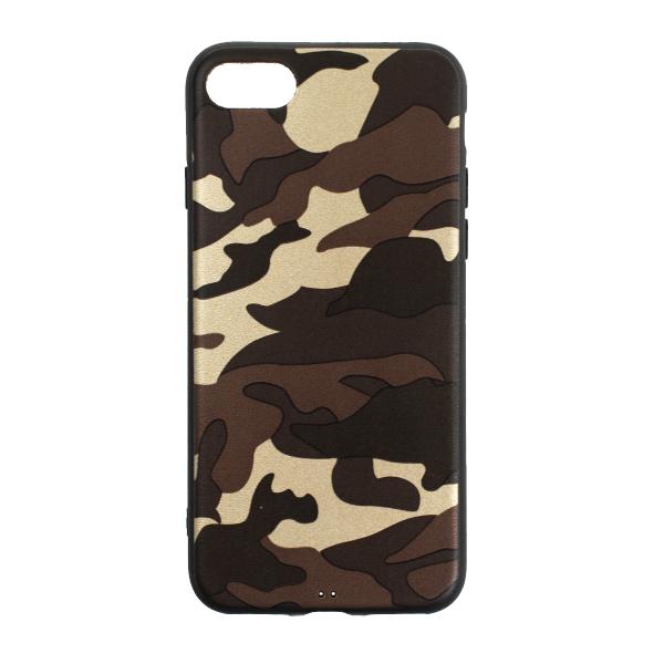 Ochranný Army obal pre iPhone SE 2020 - hnedý 1