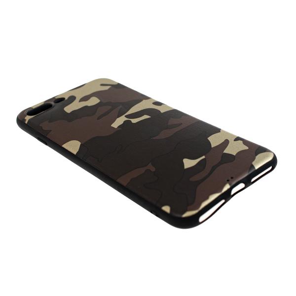 Ochranný Army obal pre iPhone 7 Plus / 8 Plus - hnedý 2