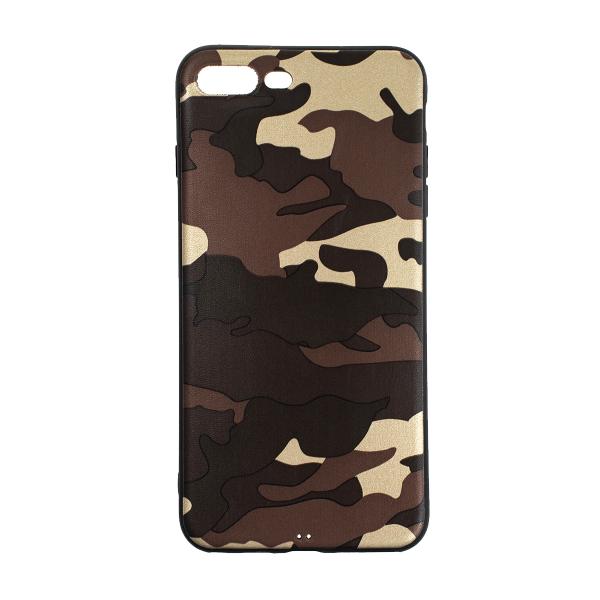 Ochranný Army obal pre iPhone 7 Plus / 8 Plus - hnedý 1