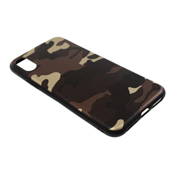 Ochranný Army obal pre iPhone X - hnedý 2
