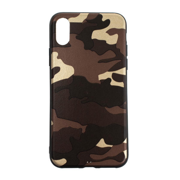 Ochranný Army obal pre iPhone X - hnedý 1