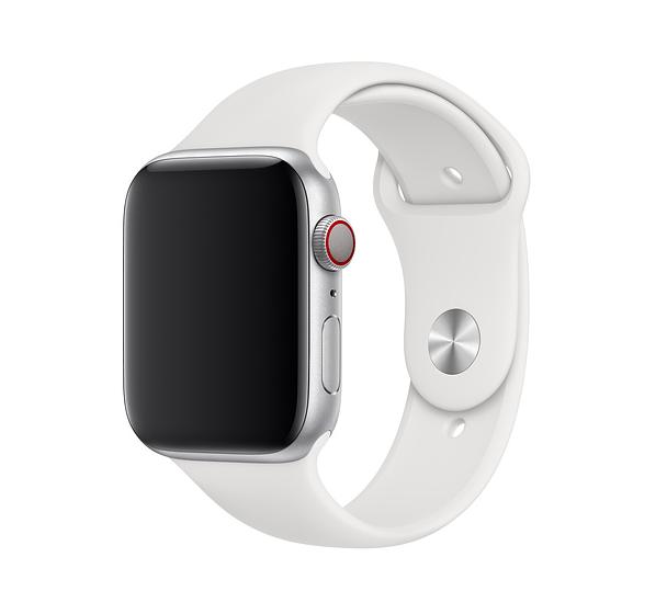Remienok na Apple Watch 42mm / 44mm, športový biely 1