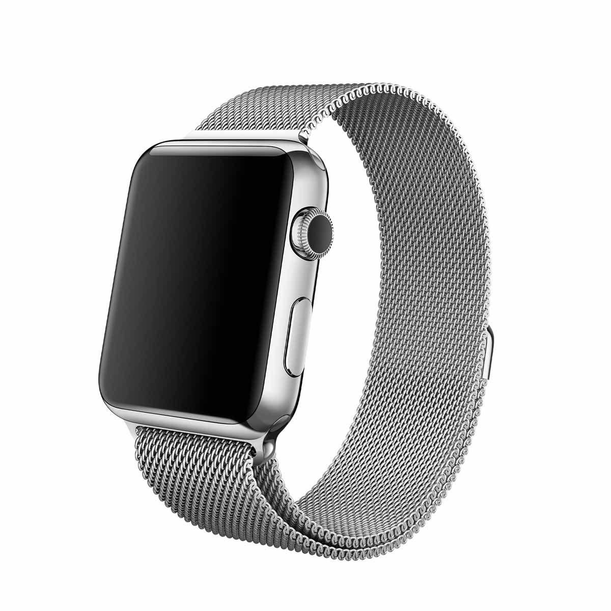 Remienok na Apple Watch 42mm / 44mm, milánsky ťah - strieborný 1