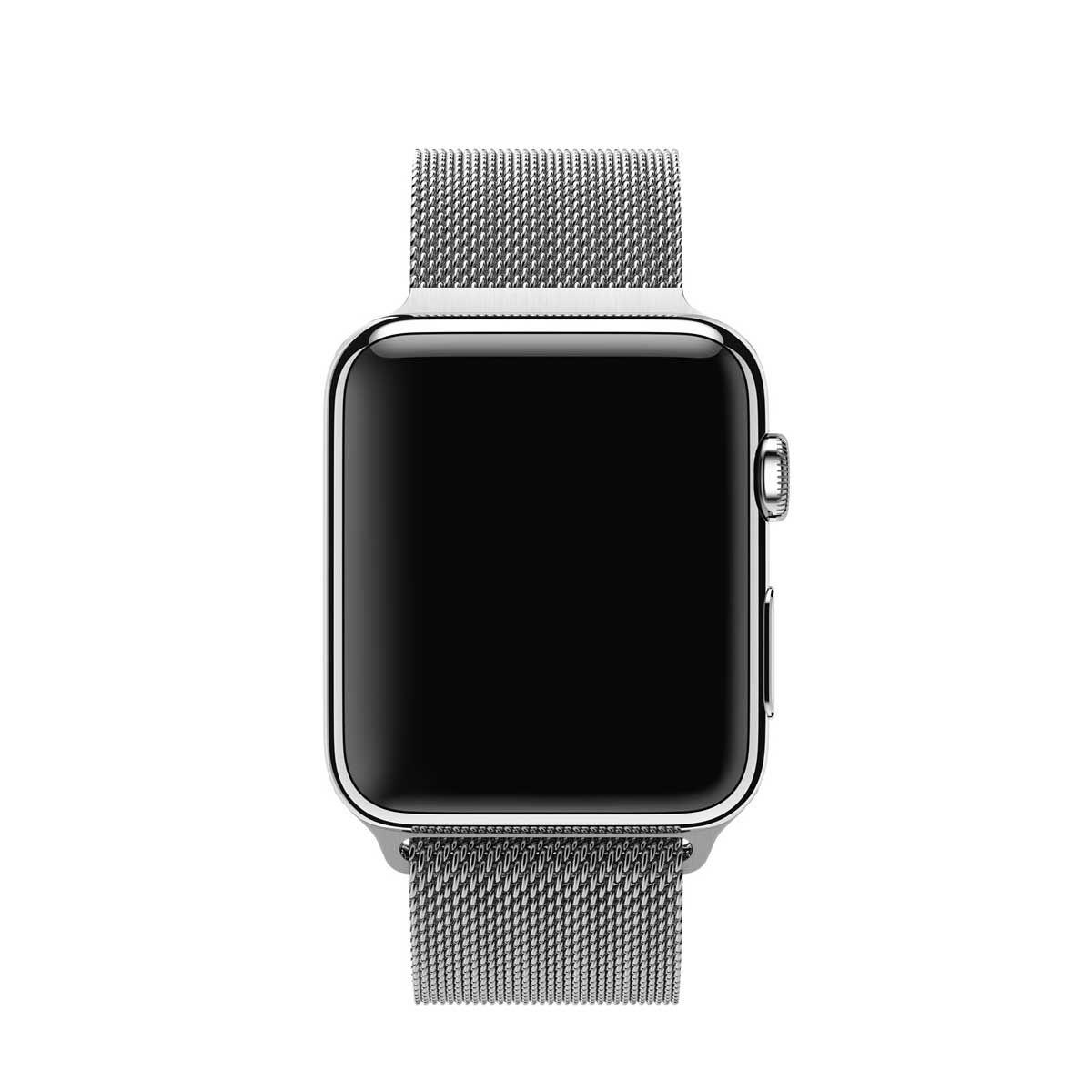 Remienok na Apple Watch 42mm / 44mm, milánsky ťah - strieborný 2