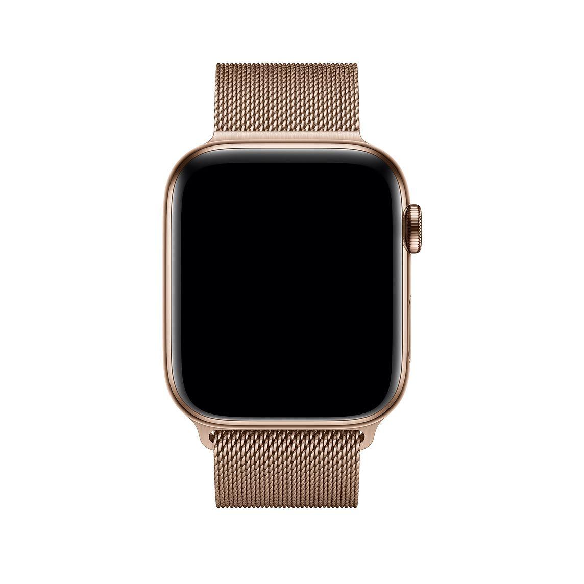 Remienok na Apple Watch 42mm / 44mm, milánsky ťah - zlatý 2