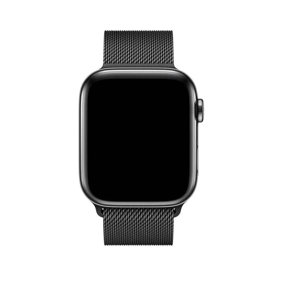 Remienok na Apple Watch 42mm / 44mm, milánsky ťah - vesmírne čierny 2