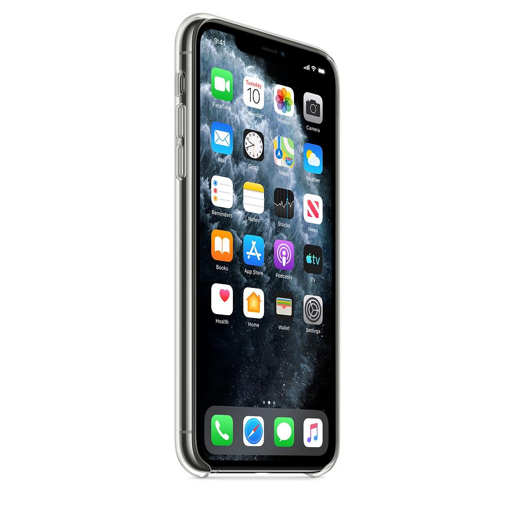 Ultratenký priehľadný silikónový obal pre iPhone 11 Pro Max 3