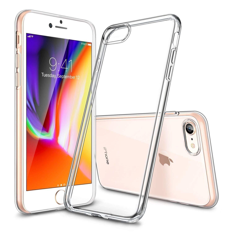 Ultratenký priehľadný silikónový obal pre iPhone SE 2020 1