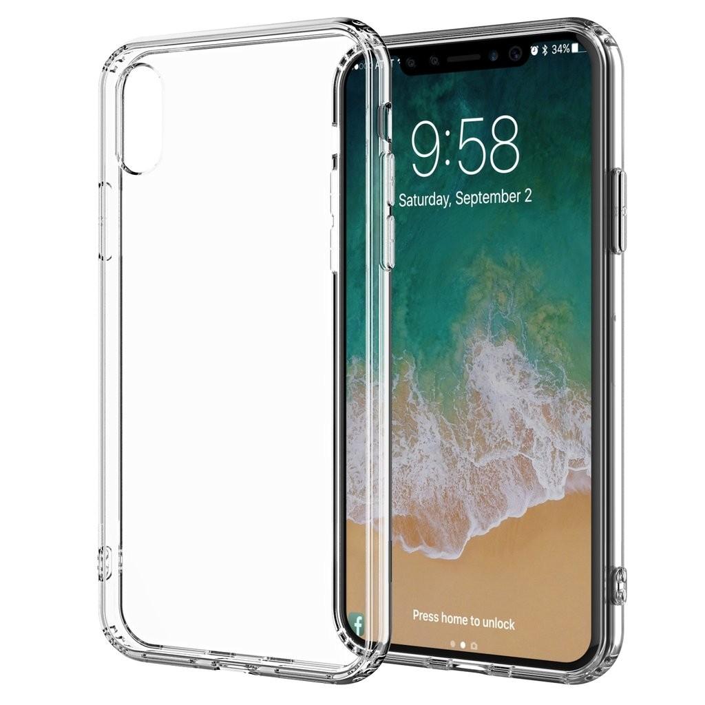 Ultratenký priehľadný silikónový obal pre iPhone X 1