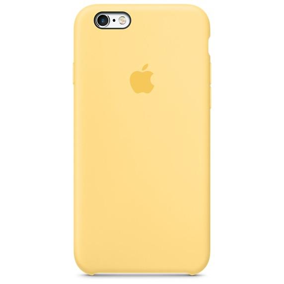 Apple silikónový obal pre iPhone 6 Plus / 6S Plus - žltý 1