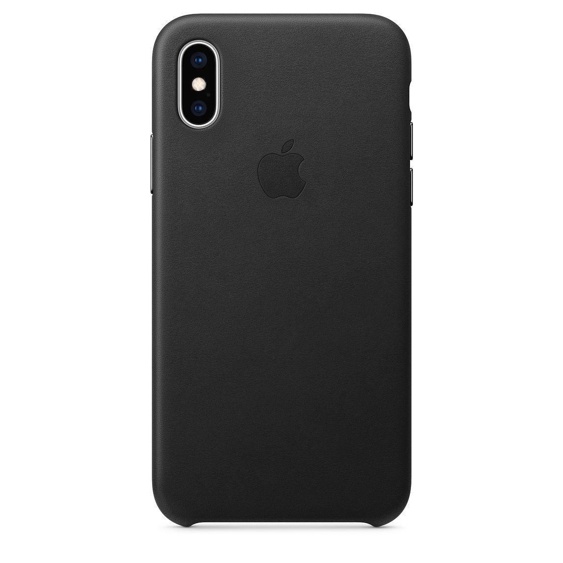 Apple kožený obal pre iPhone XS Max – čierny 1
