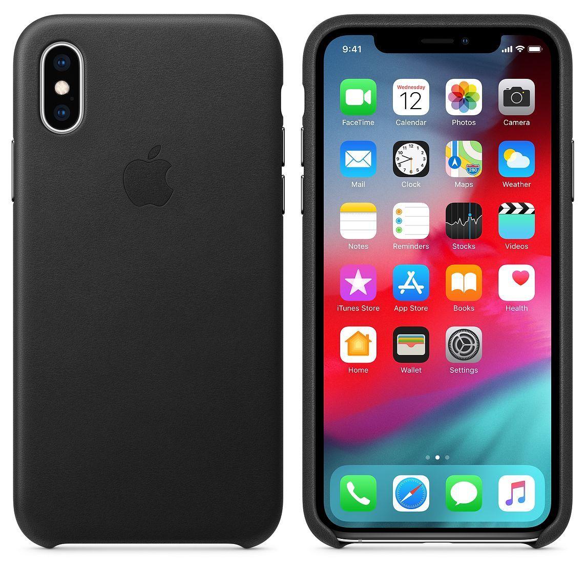 Apple kožený obal pre iPhone XS Max – čierny 3