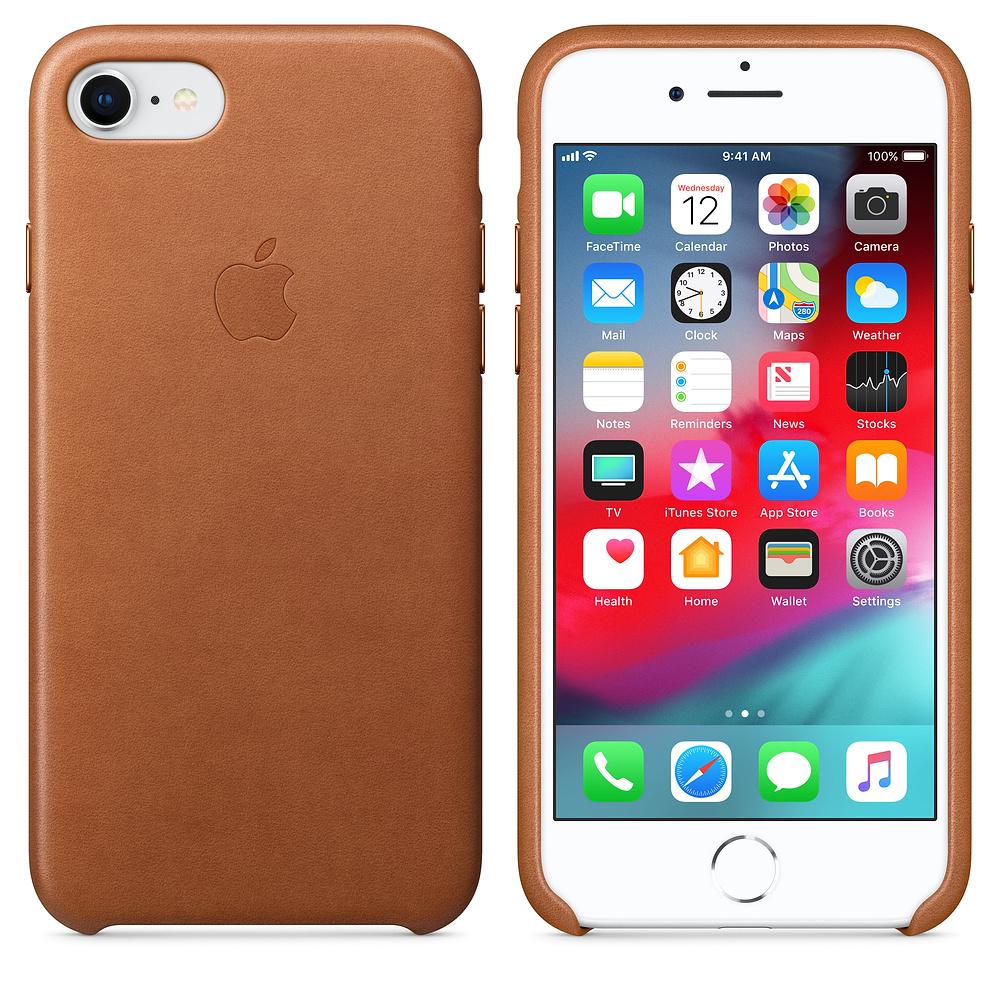 Apple kožený obal pre iPhone 7 / 8 – sedlovo hnedá 3