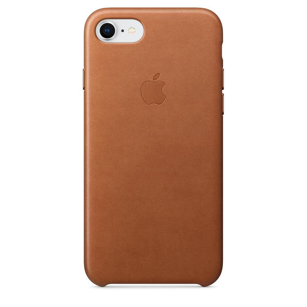 Apple kožený obal pre iPhone 7 / 8 – sedlovo hnedá 1