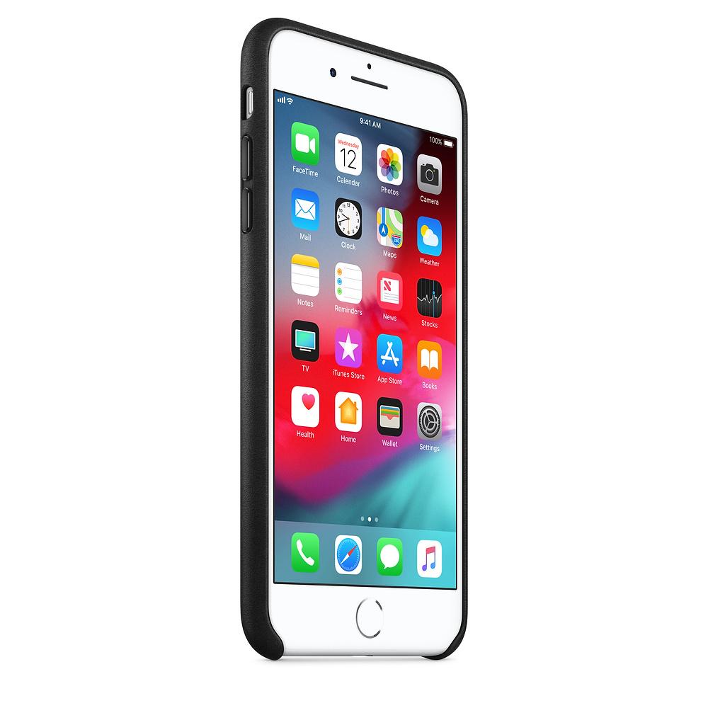 Apple kožený obal pre iPhone 7 Plus / 8 Plus – čierny 2