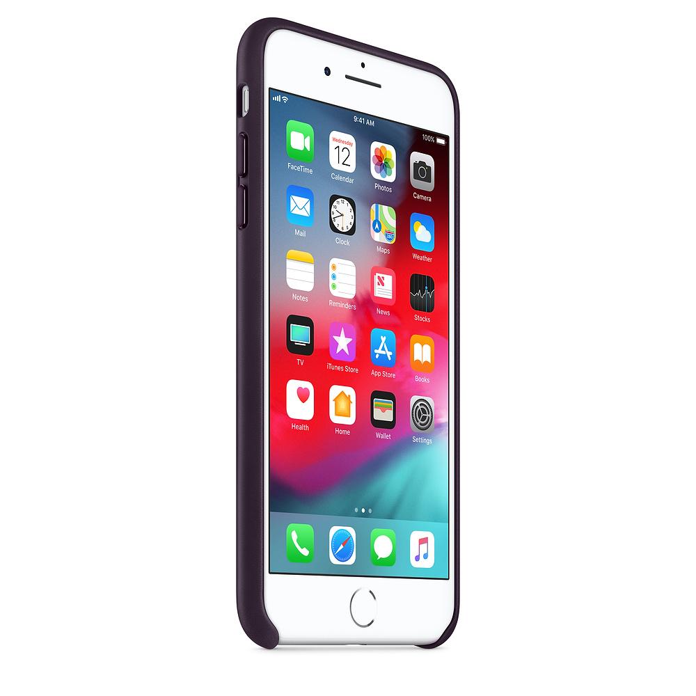 Apple kožený obal pre iPhone 7 Plus / 8 Plus – baklažánová 2